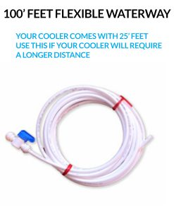 100 feet of flexible waterway for your bottleless cooler