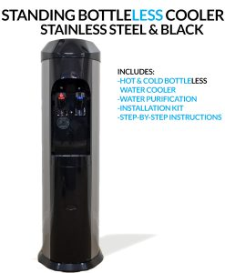 BDX1-SS - Stainless Steel BottleLess Water Cooler - Standing
