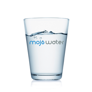 glass of MOJO Water
