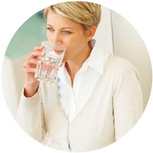 woman Drinking MOJO Water