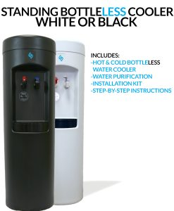 BDX1-W and BDX1-B BottleLess Water Cooler - White or Black