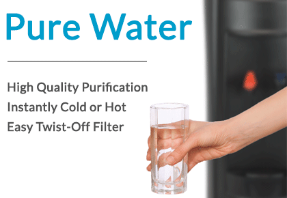 Pure Water: High Quality Purification, Instantly Cold or Hot, Easy Twist-Off Filter
