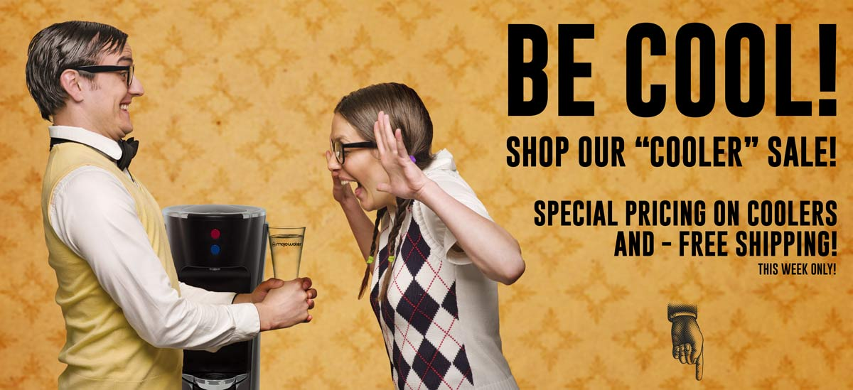Sale on our bottleLess water coolers