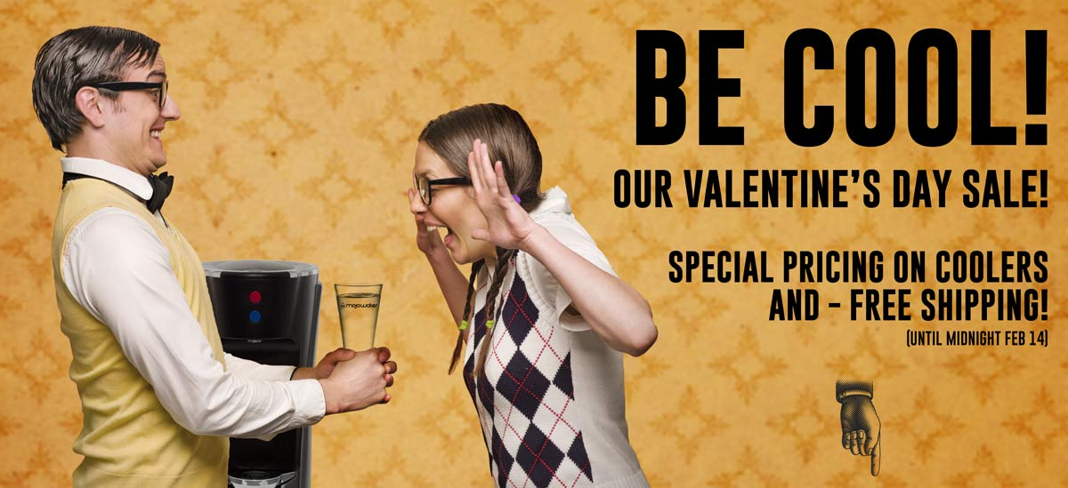 Happy valentines day sale on bottleless coolers