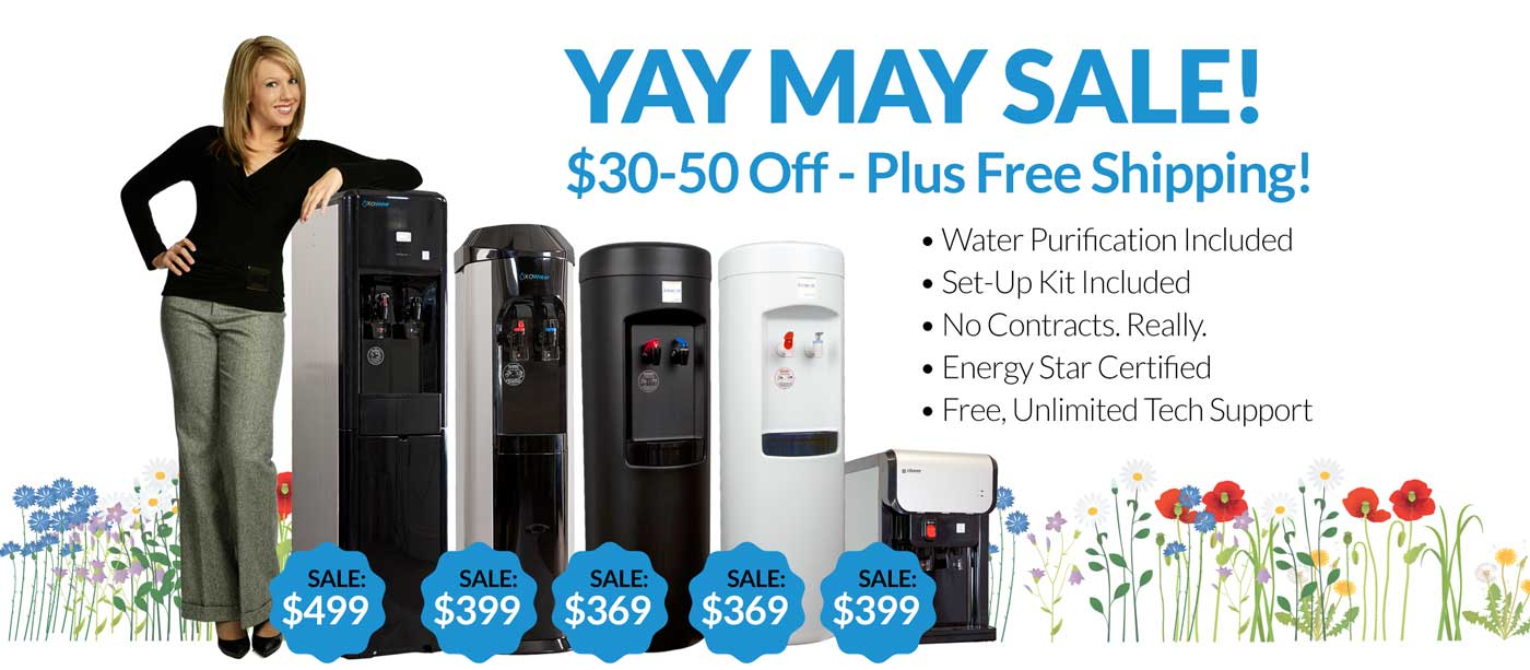 Bottleless cooler sale from MOJO Water YAY MAY