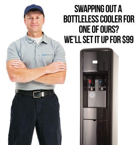 bottleless cooler set up service