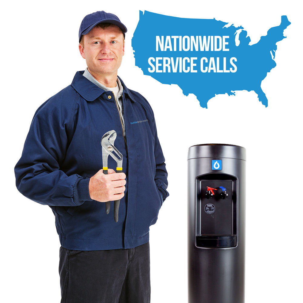 bottleless water cooler service call