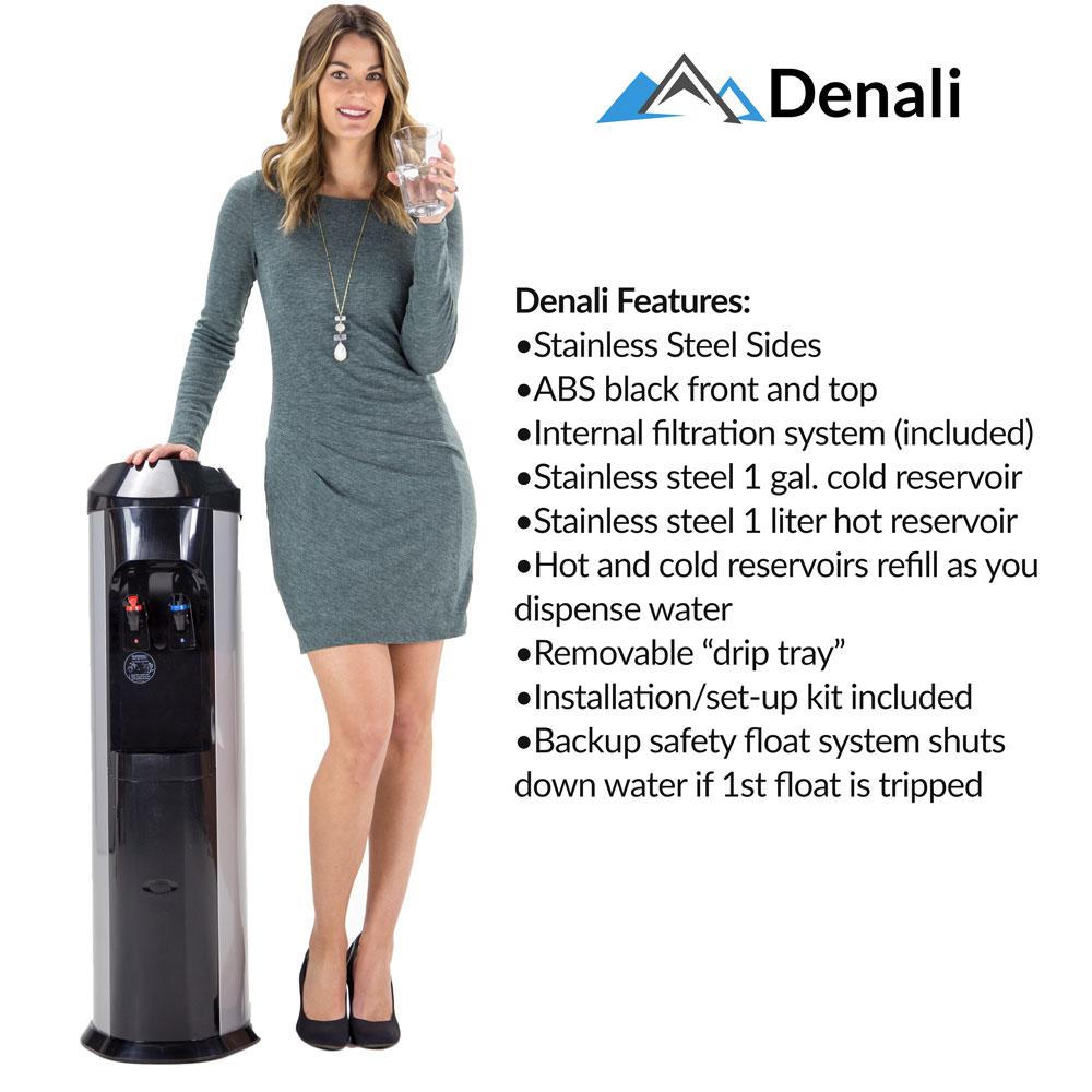 denali bottleless water cooler features