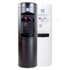 peak bottleless water cooler in black or white