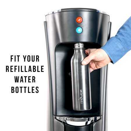 reusable water bottles fit with Olympia BottleLess Water Cooler