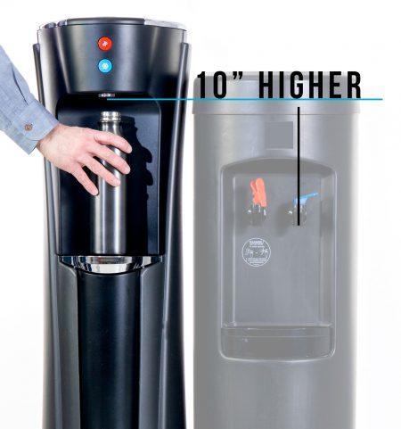 Olympia bottleless cooler is taller